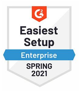 G2: Easiest Setup - Enterprise for Spring 2021 Award