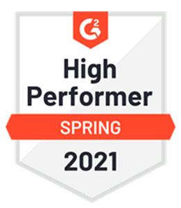 G2: High Performer for Spring 2021 Award