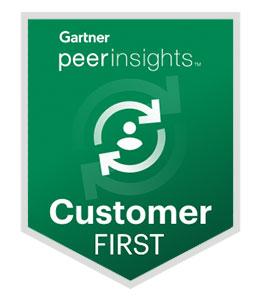 Gartner peerinsights: Customer First Award